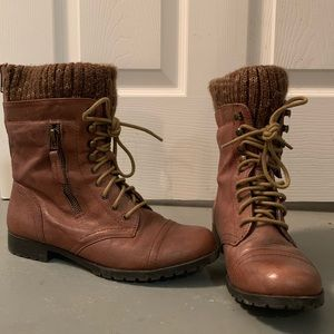 Steve Madden combat boots size 7.5